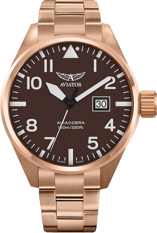 Мужские часы Aviator V.1.22.2.151.5 браслет стальной к часам маурицио