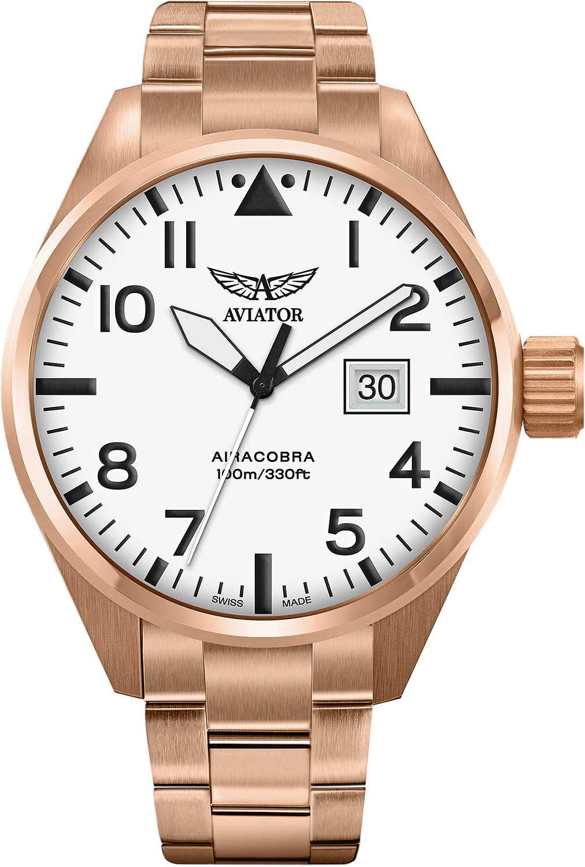 Мужские часы Aviator V.1.22.2.152.5 браслет стальной к часам маурицио