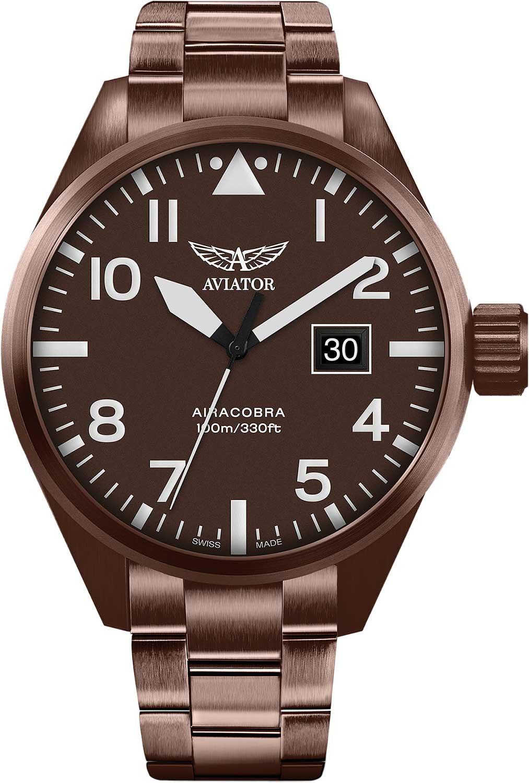 Мужские часы Aviator V.1.22.8.151.5 браслет стальной к часам маурицио