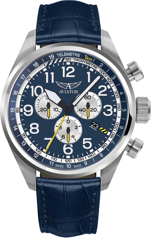 Фото «Швейцарские наручные часы Aviator V.2.25.0.170.4 с хронографом»