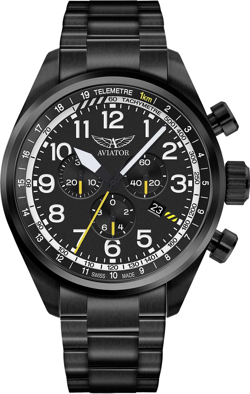 Мужские часы Aviator V.2.25.5.169.5 jd коллекция черный 39