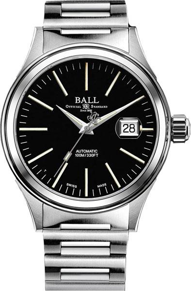 Мужские швейцарские механические наручные часы BALL NM2188C-S5-BK