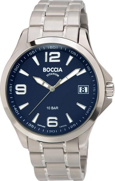 цена Мужские часы Boccia Titanium 3591-03 онлайн в 2017 году