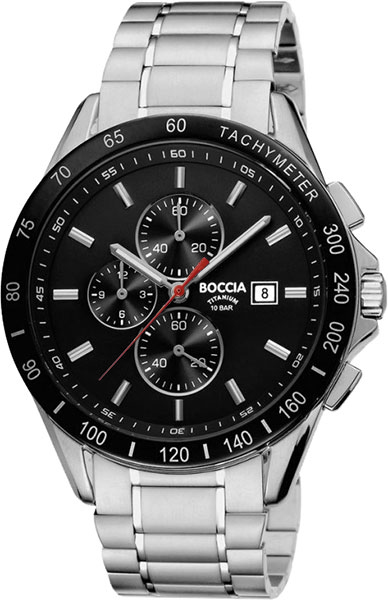 цена Мужские часы Boccia Titanium 3751-02 онлайн в 2017 году