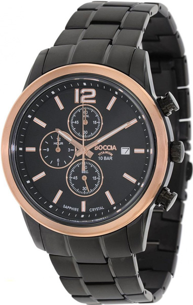 цена Мужские часы Boccia Titanium 3759-04 онлайн в 2017 году