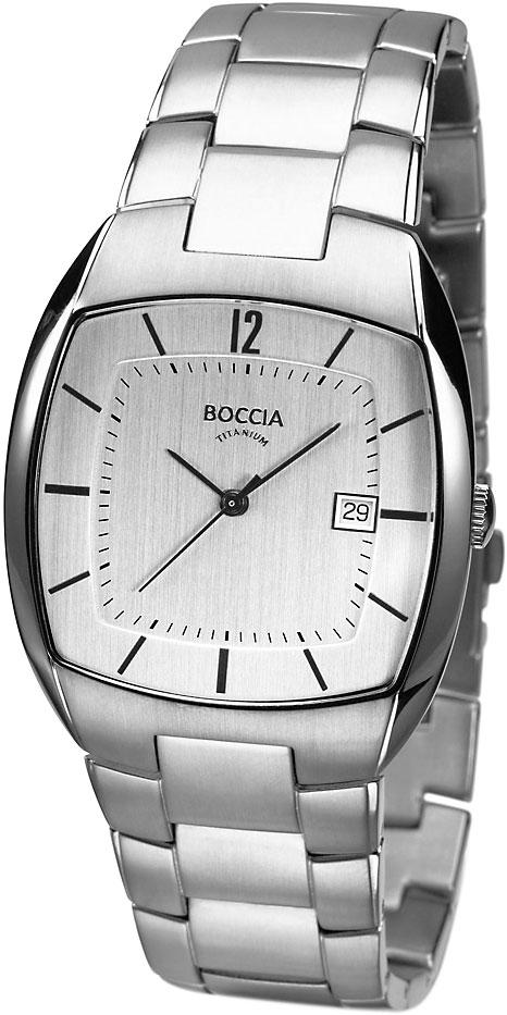 Купить Наручные часы 3522-05  Мужские наручные немецкие часы в коллекции Square Boccia Titanium