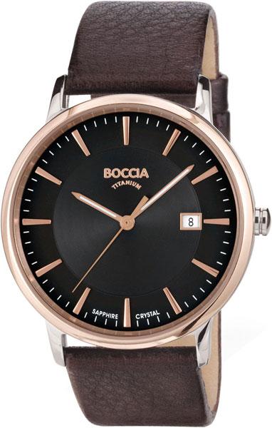 Купить Наручные часы 3557-05  Мужские наручные немецкие часы в коллекции Circle-Oval Boccia Titanium