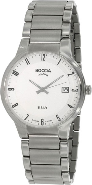 цена Мужские часы Boccia Titanium 3576-02 онлайн в 2017 году