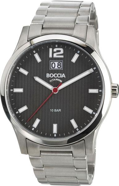 цена Мужские часы Boccia Titanium 3580-02 онлайн в 2017 году