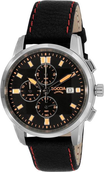 цена Мужские часы Boccia Titanium 3763-02 онлайн в 2017 году