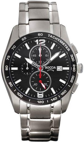 цена Мужские часы Boccia Titanium 3767-02 онлайн в 2017 году
