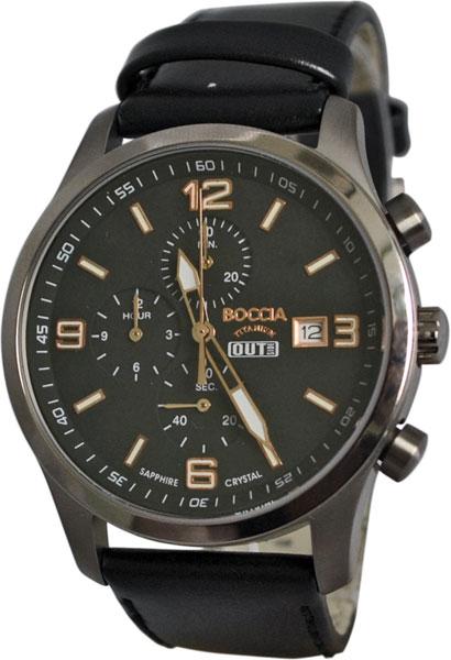 цена Мужские часы Boccia Titanium 3776-07 онлайн в 2017 году