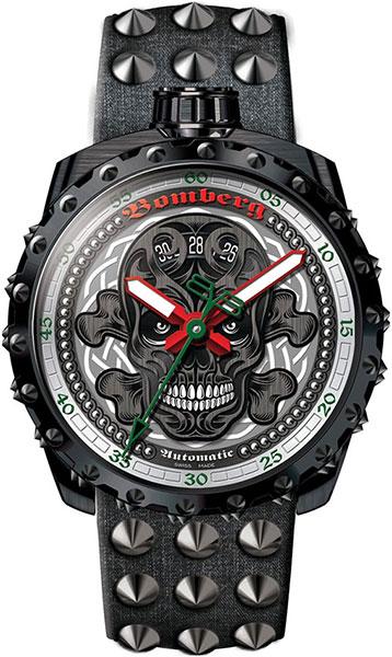 Мужские швейцарские механические наручные часы Bomberg BS45APBA.039-3.3