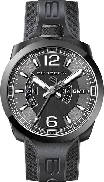 Мужские швейцарские наручные часы Bomberg BS45GMTPBA.005.3