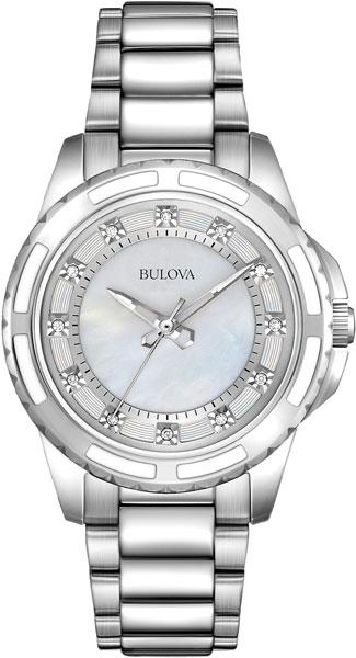 Женские часы Bulova 96S144 bulova часы bulova 96s144 коллекция diamonds