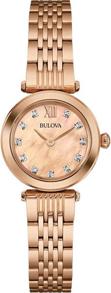 Женские часы Bulova 97S116 bulova часы bulova 97s116 коллекция diamonds