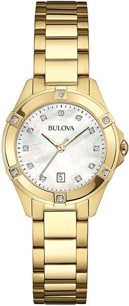 Женские часы Bulova 97W100 bulova часы bulova 97w100 коллекция diamonds