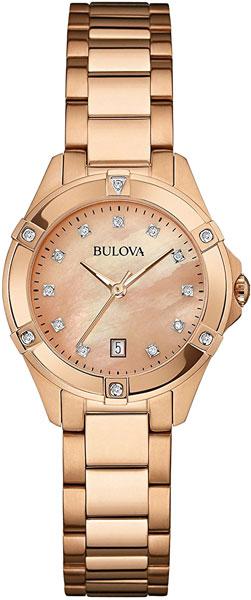 Женские часы Bulova 97W101 bulova часы bulova 97w101 коллекция diamonds