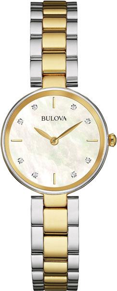 Женские часы Bulova 98S146 bulova часы bulova 98s146 коллекция diamonds