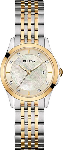 Женские часы Bulova 98S148 bulova часы bulova 98s148 коллекция diamonds