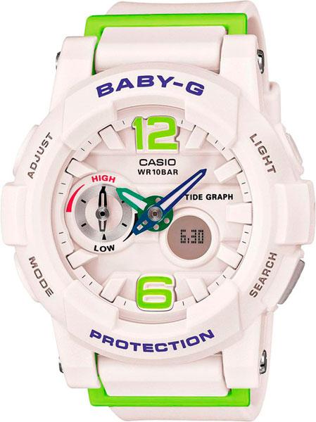 Купить Наручные часы BGA-180-7B2  Женские японские наручные часы в коллекции Baby-G стрелочные Casio G-SHOCK