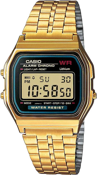 купить Мужские часы Casio A-159WGEA-1E онлайн