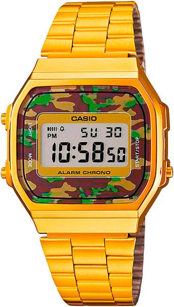 цена Мужские часы Casio A-168WEGC-3E онлайн в 2017 году