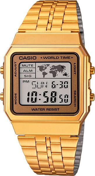 Мужские часы Casio A-500WEGA-9E casio a 500wega 1e
