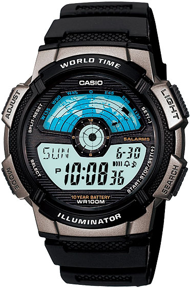 Мужские часы Casio AE-1100W-1A часы casio collection 56735 ae 1200whd 1a grey