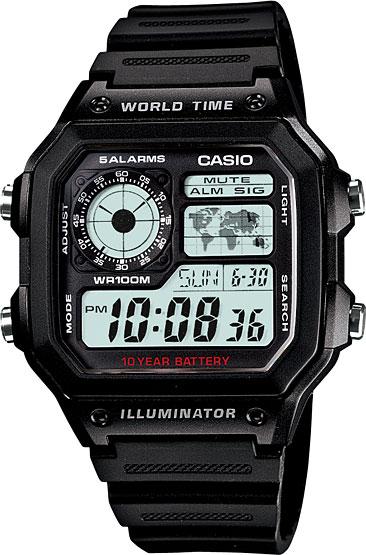 Мужские часы Casio AE-1200WH-1A casio ae 1200wh 1a