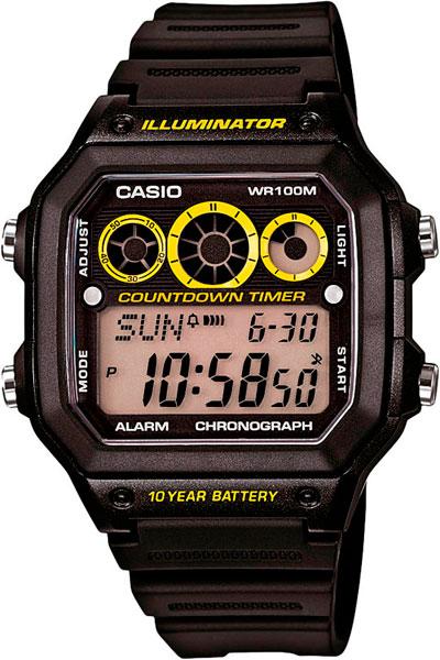 Мужские часы Casio AE-1300WH-1A часы casio collection 56735 ae 1200whd 1a grey