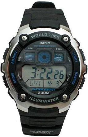 Мужские часы Casio AE-2000W-1A часы casio collection 56735 ae 1200whd 1a grey