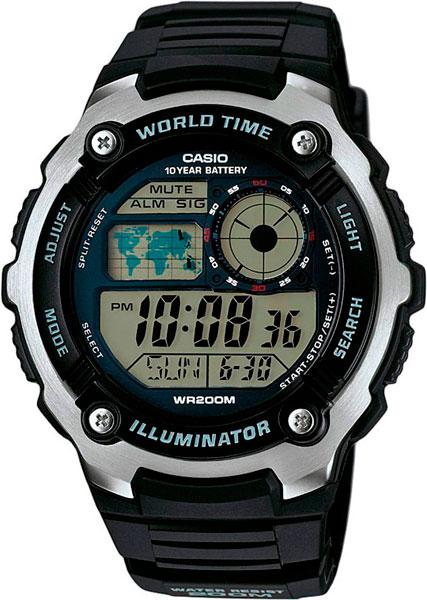 Мужские часы Casio AE-2100W-1A casio часы casio ae 2100w 4a коллекция digital