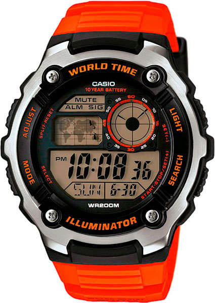 Мужские часы Casio AE-2100W-4A мужские часы casio ae 1000w 4a