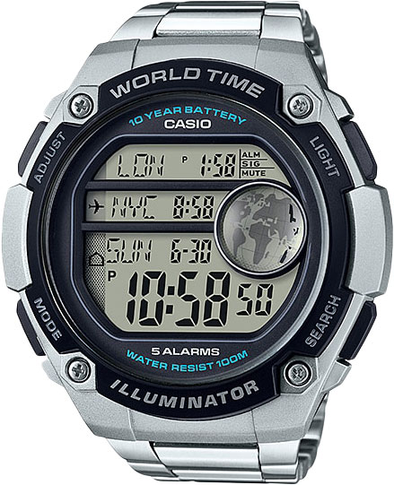 Мужские часы Casio AE-3000WD-1A часы casio collection 56735 ae 1200whd 1a grey