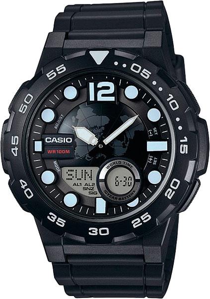 цена Мужские часы Casio AEQ-100W-1A онлайн в 2017 году