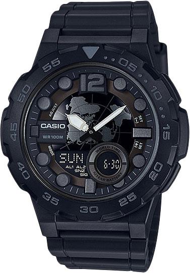 цена  Мужские часы Casio AEQ-100W-1B  онлайн в 2017 году