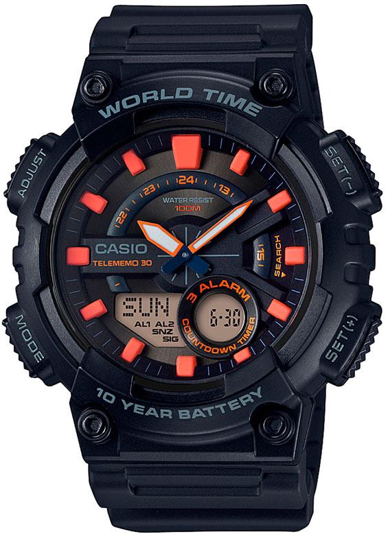 Мужские часы Casio AEQ-110W-1A2 casio aeq 110w 2a