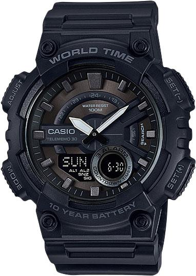 Мужские часы Casio AEQ-110W-1B casio aeq 110w 2a