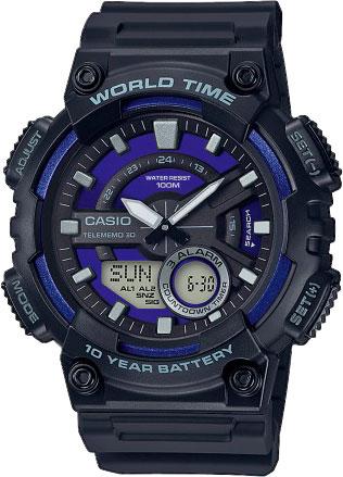 Мужские часы Casio AEQ-110W-2A2VEF мужские часы casio aeq 110w 1a