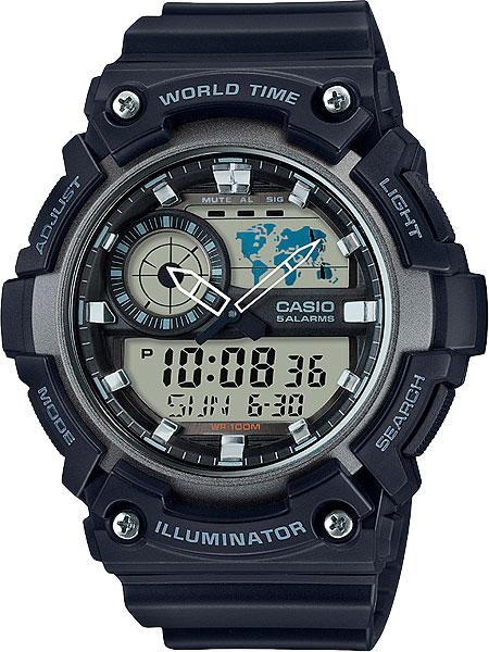 цена Мужские часы Casio AEQ-200W-1A онлайн в 2017 году