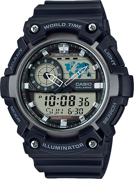 Мужские часы Casio AEQ-200W-1A все цены