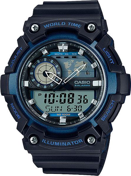 цена  Мужские часы Casio AEQ-200W-2A  онлайн в 2017 году