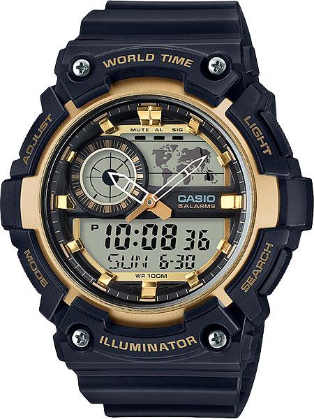 цена Мужские часы Casio AEQ-200W-9A онлайн в 2017 году
