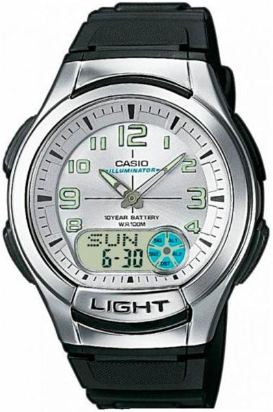 цена Мужские часы Casio AQ-180W-7B онлайн в 2017 году