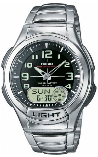 Мужские часы Casio AQ-180WD-1B beauty clinic маска крем ночная для лица с n m f 15 мл