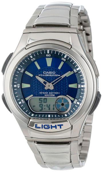 Мужские часы Casio AQ-180WD-2A часы casio collection aq 180wd 1b grey