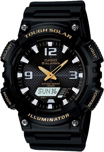 Мужские часы Casio AQ-S810W-1B часы casio aq s810w 1a 1b 2a 3a 1a2 8a 2a2