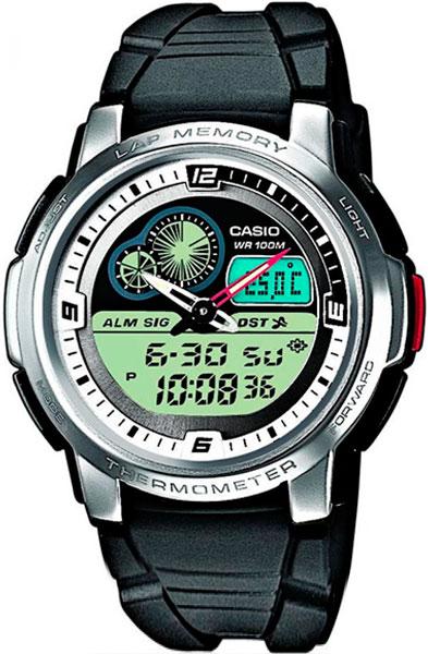Мужские часы Casio AQF-102W-7B часы casio collection 41056 aqf 102w 7b steel grey black