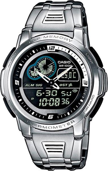 где купить Мужские часы Casio AQF-102WD-1B по лучшей цене